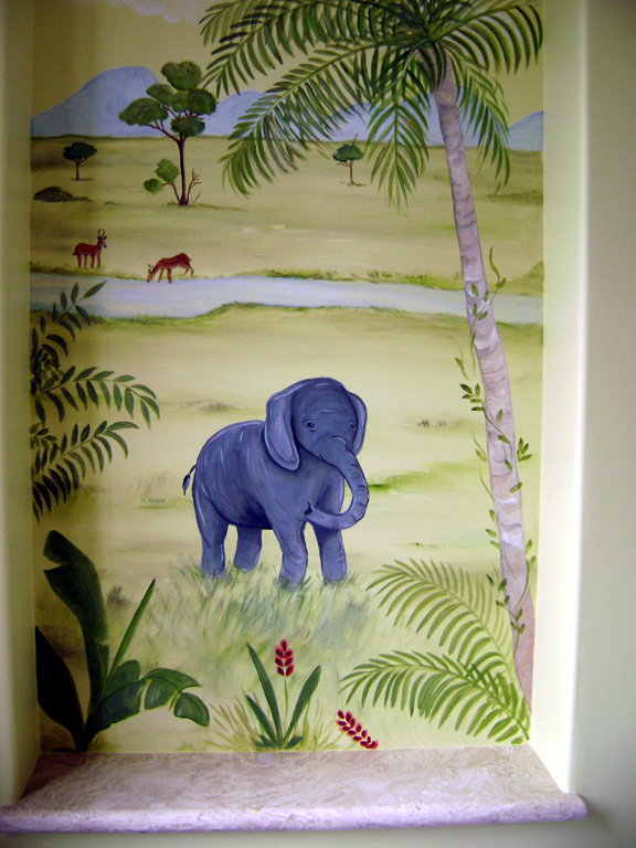 Baby elephant -Jungle Children's mural