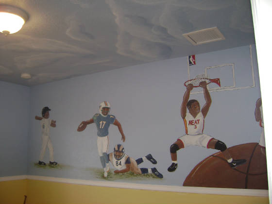 Sports Murals 166 Sports Theme Room Decor 166 Sports Fan Room