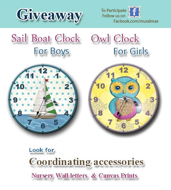 September giveaway - children's clocks