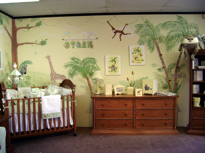 nursery wall murals children 39 s wall mural murals for kids. Black Bedroom Furniture Sets. Home Design Ideas