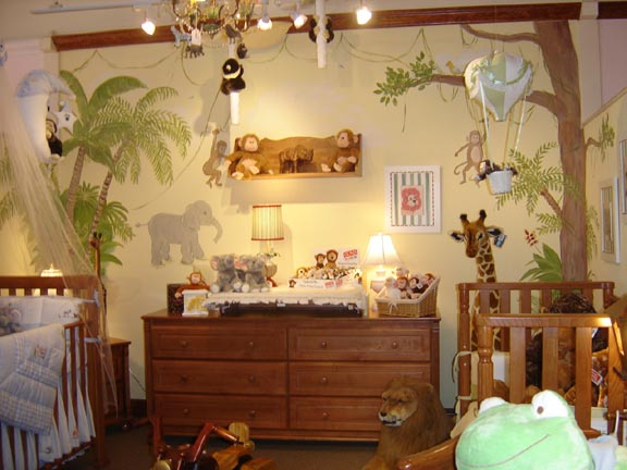 Bellini Safari Mural-Nursery Safari Wall Mural