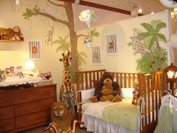 Nursery wall murals children 39 s wall mural murals for kids for Baby jungle safari wall mural