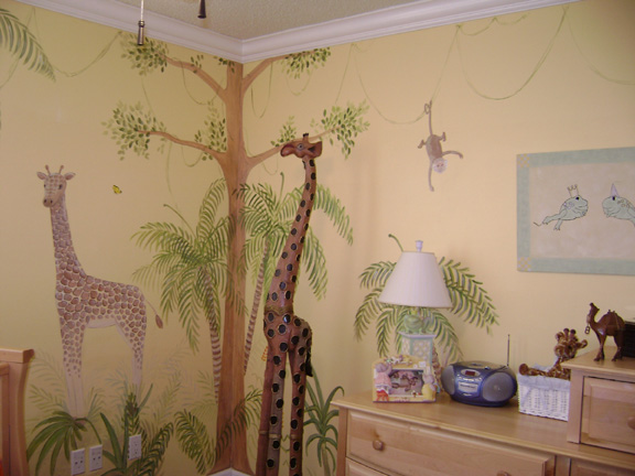 Jungle Mural Children S Nursery Jungle Murals South Florida