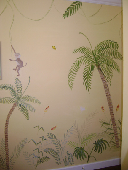 Jungle boy's bedroom mural - Palm Beach County , Florida