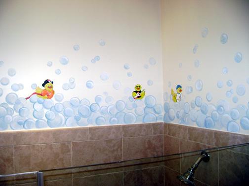Bubble Bath Childrenu0027s Mural