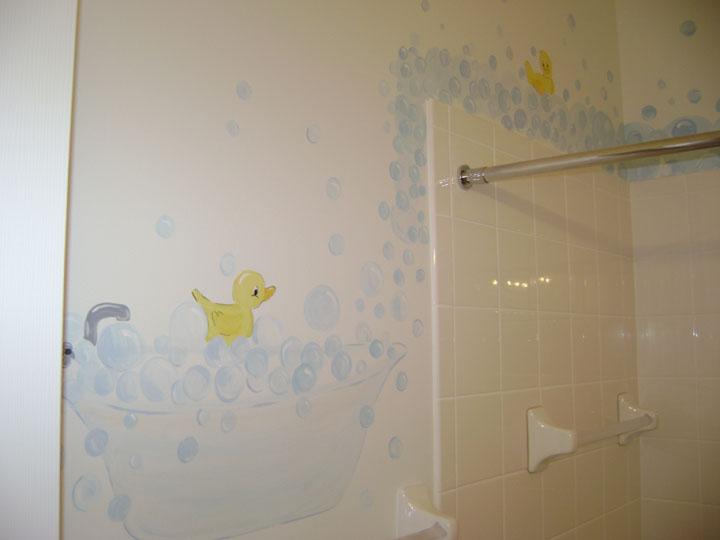 Children S Wall Mural Bubble Bath Mural Nursery Murals
