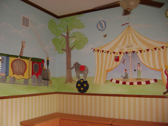 miami pediatrician mural , Doctors office commercial mural- Circus