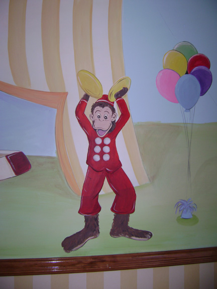 Circus Monkey Pediatrics mural