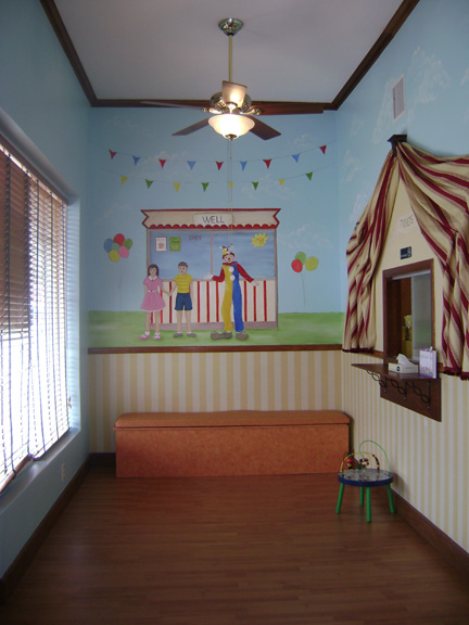 Patients waiting room- circus Mural