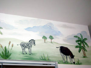 Jungle Border Mural