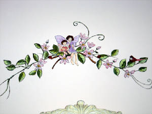 Fairy Mural -Nursery Mural - Baby Room Decorations