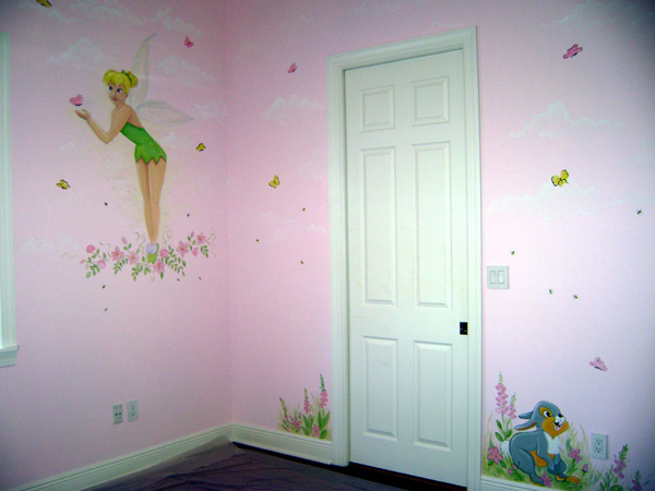 Children's Room Fairy Painting-Tinker Bell