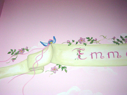 Nursery Mural Gallery Flower Fairy Mural In South Florida
