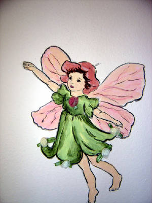 Fairy Nursery Mural - Baby Room Decorations