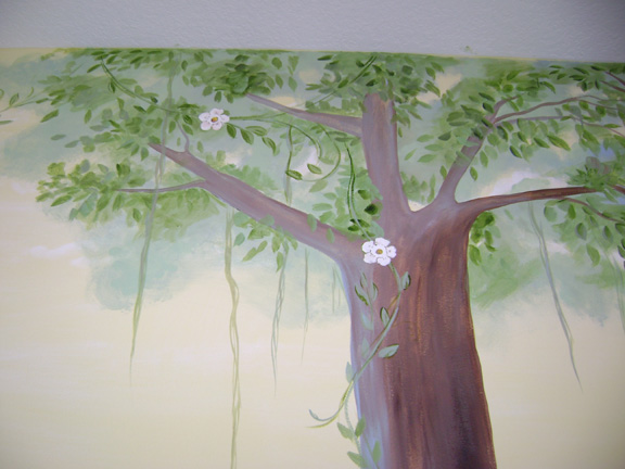 Enchanted Forest Children's Mural -Close up