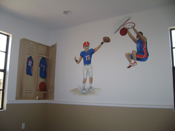 Gators Mural- Boys Sports theme
