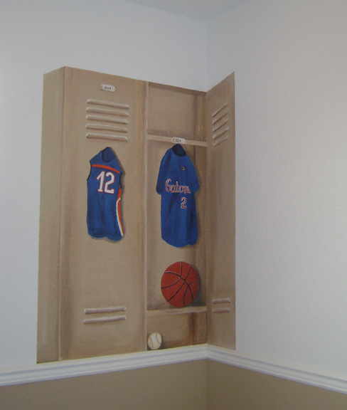 Florida Gators Sport Mural Locker