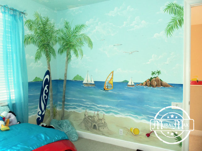 Hawaii Surf Beach Wall Murals 166 Hawaii Beach Nursery