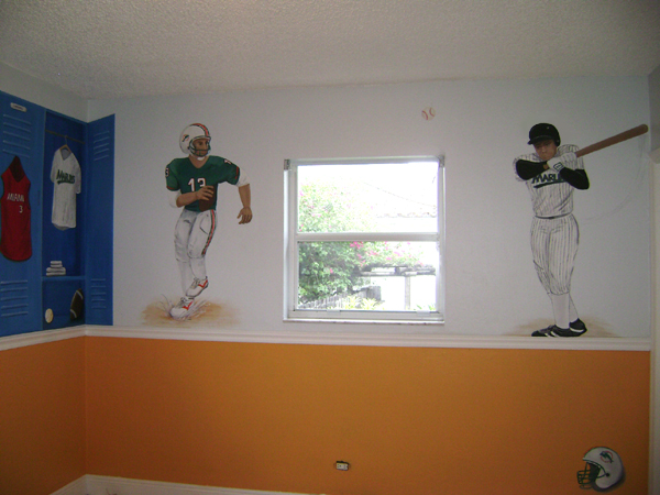 Sports Murals For Children