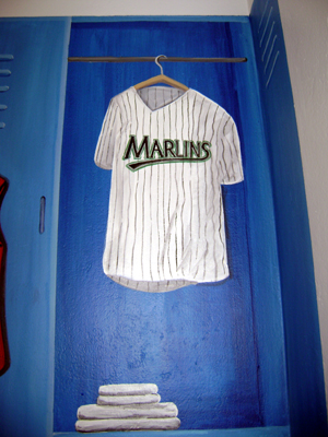Sports Locker Mural -Marlins  Uniform