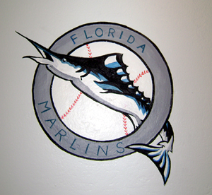 Florida Marlins Logo Mural