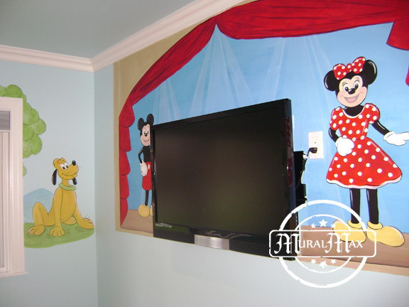 Mickey mouse mural 1