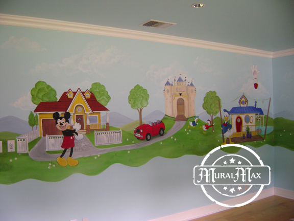 Mickey mouse mural 3