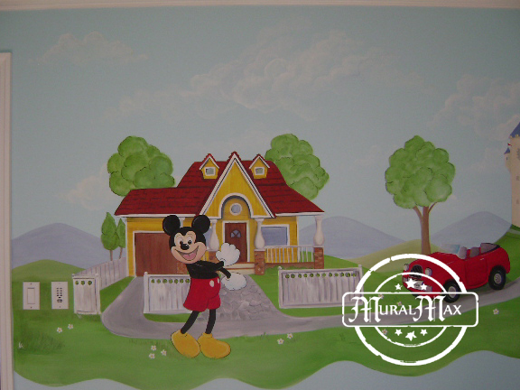 Mickey mouse mural 4