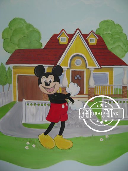 Mickey mouse mural 7