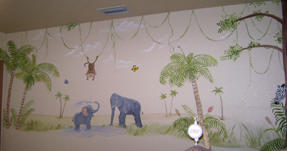 Monkey Jungle Mural
