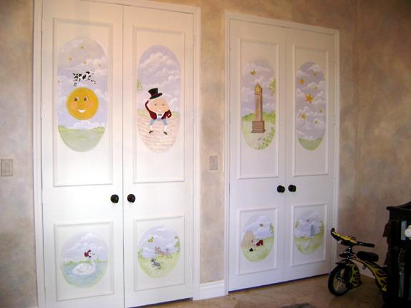 Nursery rhyme murals & Nursery Rhyme Children\u0027s Murals - Children\u0027s murals in Palm Beach ...