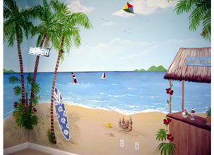 Marvelous Tropical Beach  Childrenu0027s Mural Part 23