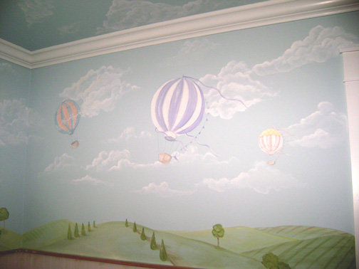 Children 39 s murals decorating ideas for baby toddler for Baby nursery mural