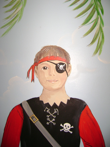 Pirate boy Mural Close -Up