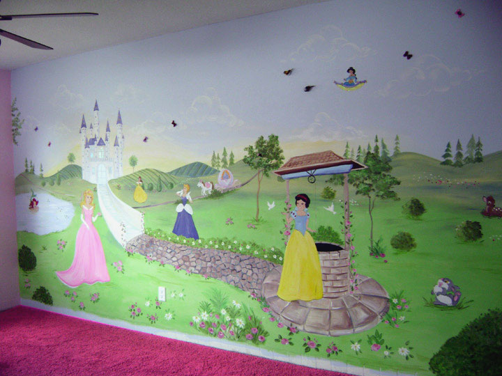 Superior Princess Mural   Girls Wall Mural Part 18