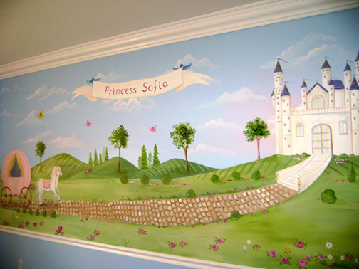 Princess Murals Child Bedroom Mural