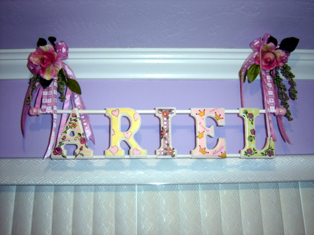 Wooden Letter- Children's Room Decor