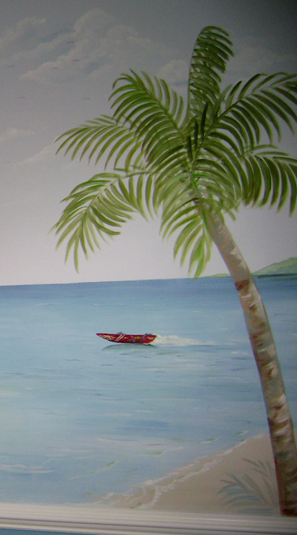 Children's Murals -  Nautical Theme -Palm tree