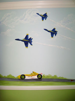 ar Rooms for Boy's - Blue Angels Mural- Florida