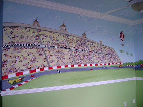 Race Car Mural  Boys Room Murals, Race Car Rooms For Boyu0027s Part 87