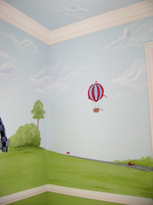 Hot Air Balloon -Raceway Mural