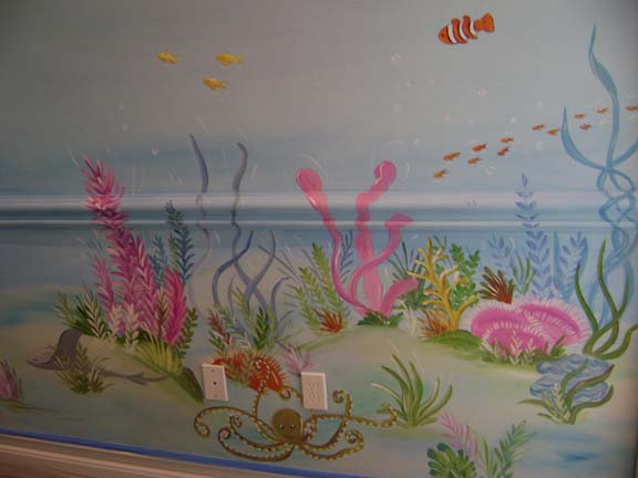 Pin coral reef mural on pinterest for Coral reef mural