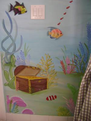 Sassy Coral Reef Child Room Mural Children S Mural Mural