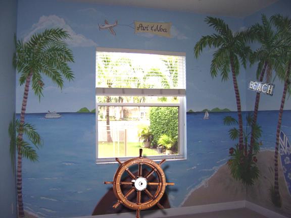 Tropical Beach Mural Children S Murals In Palm Beach