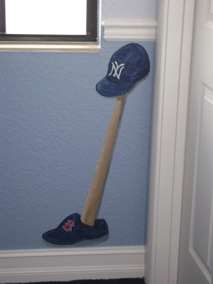 New York Yankees mural for boys