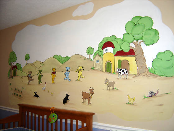 Five Dancing Bears And Barnyard Mural Part 83
