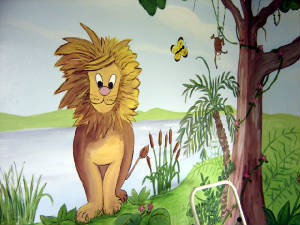 Jungle Mural - Playroom design- Davie,Florida