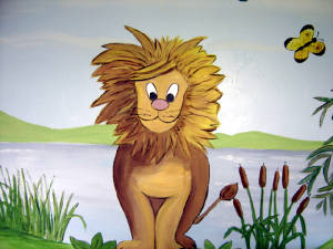 Jungle Mural - Lion
