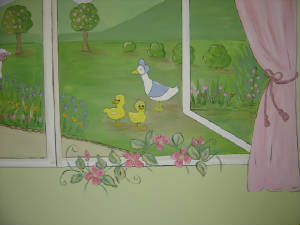 Window Mural - Ducks