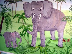 Elefants - Jungle Mural- Playroom Mural